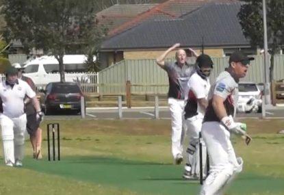 Unlucky bowler endures an utterly nightmarish three-ball sequence