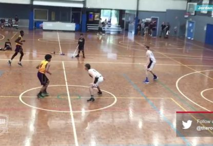 Young gun sends crowd into raptures with huge crossover into three-pointer