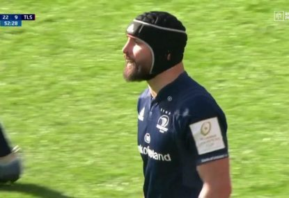 Scott Fardy forgets he's a flanker with outrageous long pass