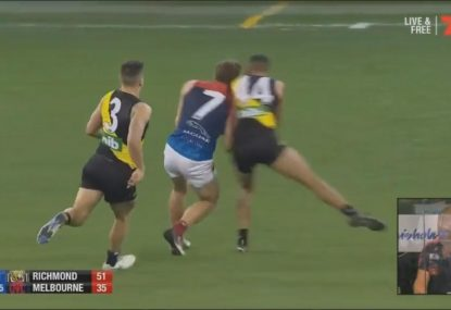 Jack Viney smashed into next week by 18-year-old Richmond youngster