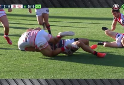 Dragons youngster's miraculous ANZAC Day try saver