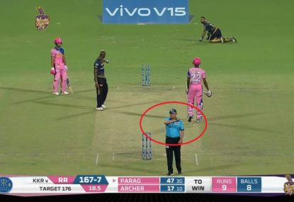 Umpire fails to notice Rajasthan batsman has smashed his stumps