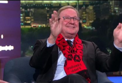 Kevin Sheedy's classic joke about Magpie fans after ANZAC Day booing controversy