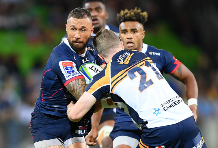Quade Cooper with Will Genia in support