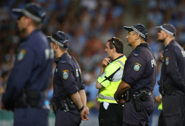 Police at the A-League