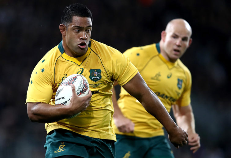 Allan Alaalatoa of The Wallabies in action