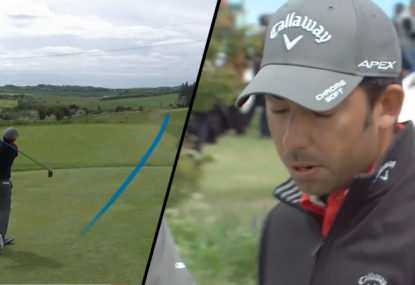 WATCH: Pro golfer's drive is so bad it makes weekend hackers look good