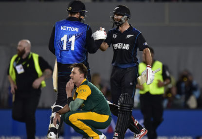 The Roar's Cricket World Cup countdown: When the Black Caps won a semi-final for the ages