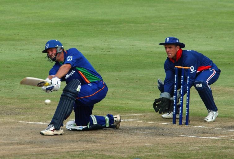 Namibian batsman Jan-Berrie Burger.
