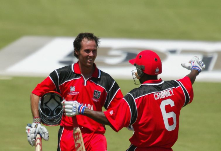 John Davison playing for Canada in the 2003 World Cup