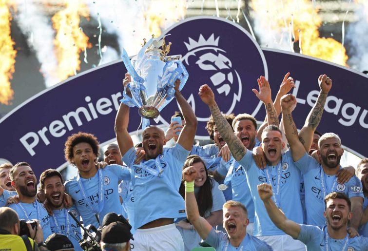 Manchester City celebrate EPL title