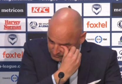 Kevin Muscat's emotional goodbye to Melbourne Victory