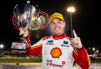 Scott McLaughlin holds off Shane Van Gisbergen to win on Supercars' return
