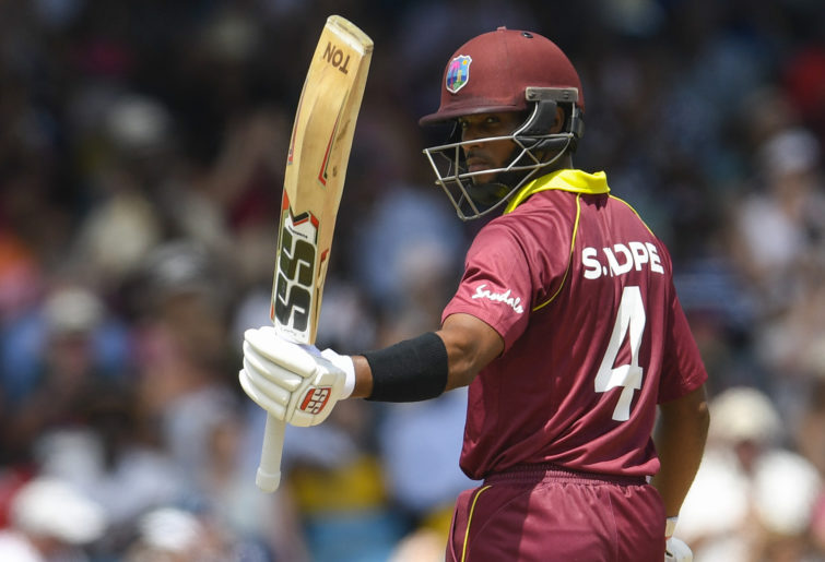 West Indies batsman Shai Hope