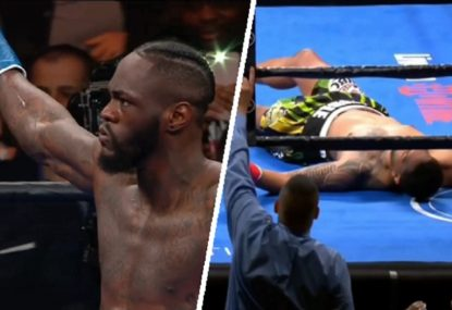 Deontay Wilder ruins his opponent in just two minutes