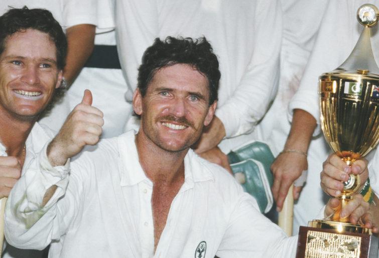 Australia celebrate winning the 1987 Cricket World Cup.