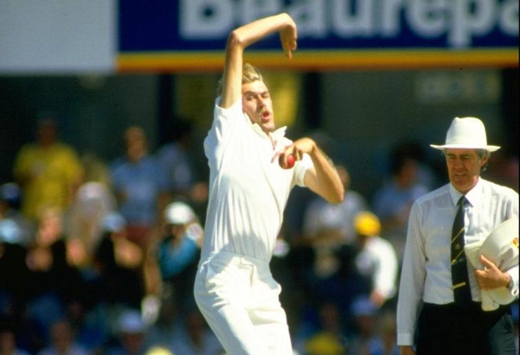 Bruce Reid bowls for Australia