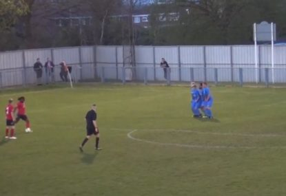 Free kick maestro fools everyone with strike straight UNDER the wall