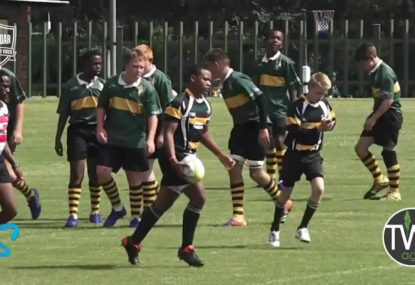 14 year old beast shrugs off five defenders to score try