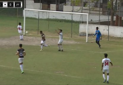 Defender cries foul after horror pass gifts goal