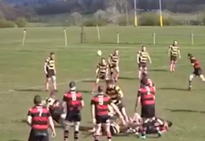 HIT OF THE CENTURY? Defender obliterates flyhalf like a heat-seeking missile
