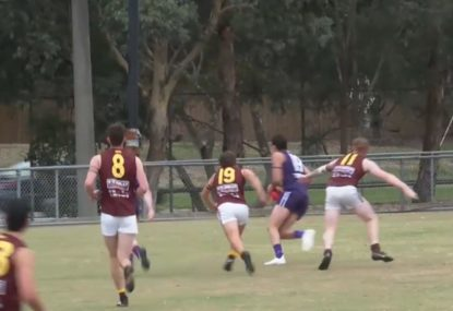 Sneaky forward slots goal from deep in the pocket