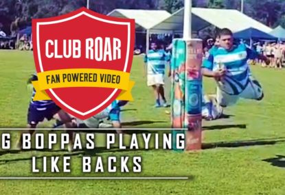Club Roar's Big Boppas Playing Like Backs