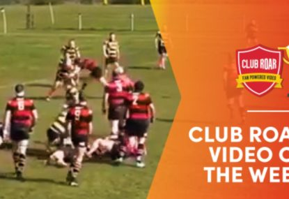 CLUB ROAR VIDEO OF THE WEEK: Flyhalf gets wrecked by the hit of the century