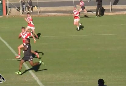 Bathurst Panthers speedster torches the turf in swift 80m try
