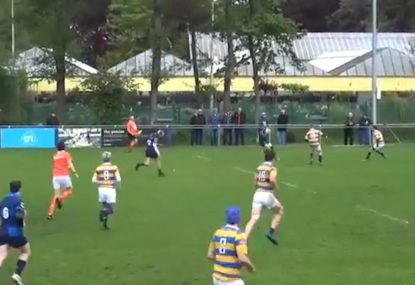 Sly bouncing punt sets up unlikely try in the corner