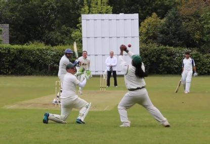 Keeper's relay catch saves first slip from all kinds of embarrassment