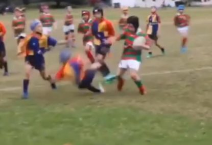 8-year-old steamrolls innocent defenders with vicious savagery