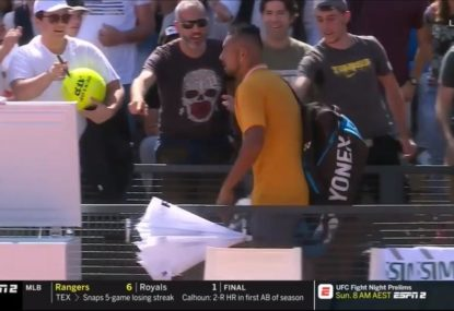 Nick Kyrgios disqualified after the mother of all dummy spits
