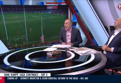 Gerard Whateley's epic spray of AFL's 'completely cocoa bananas' Dane Rampe ruling