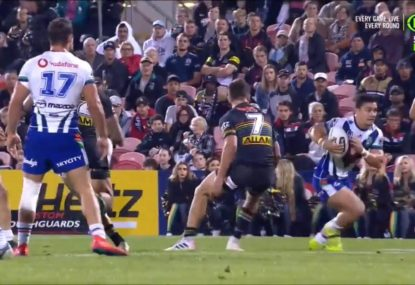 Kodi Nikorima's sensational dummy sends Nathan Cleary back to 2018