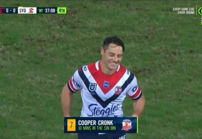 Suncorp crowd prove no one is safe, jeer a sin-binned Cooper Cronk