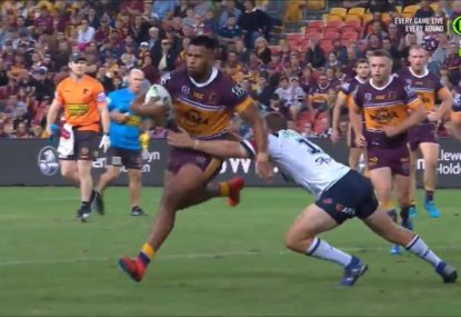 Broncos' Origin bolter's first NRL try is an absolute beauty