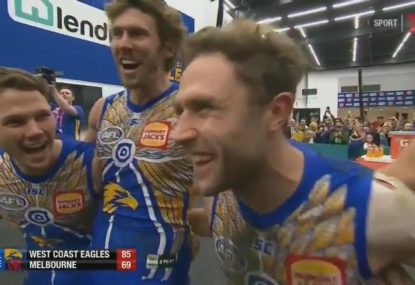 West Coast's song turns into moment of hilarity as players forget words