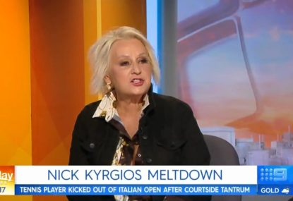 Today Show panellist slammed for racist Kyrgios rant