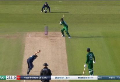 'Just bowl at the stumps!': Tailender's antics confuse England paceman