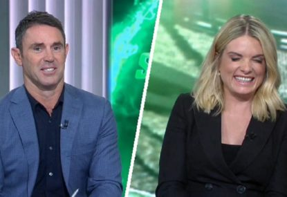 Everyone loses it over Freddy Fittler's slip of the tongue