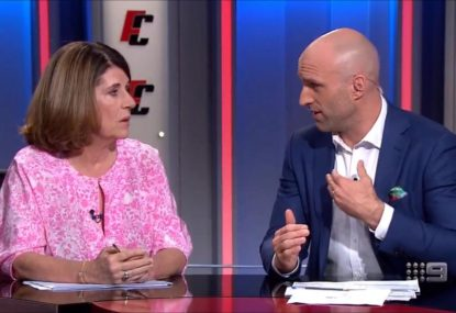 Chris Judd's frosty exchange with Caroline Wilson over Carlton's woes