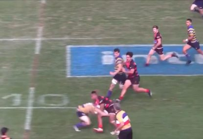 Raging Bull charges straight through hapless defenders with TWO savage bump offs