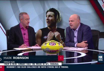 Mark Robinson's solution regarding AFL cheer squad abuse