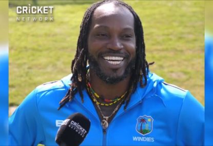 Chris Gayle gives a warning to bowlers ahead of the World Cup