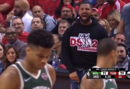 Drake trolls Giannis Antetokounmpo after free throw miss