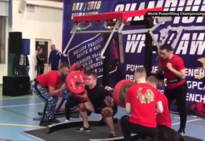 GRAPHIC WARNING: Russian weightlifter's suffers triple leg break in horrifying incident