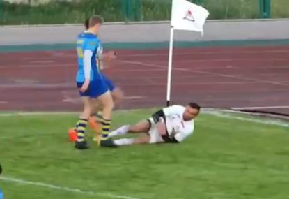 Risky offload inside the 22 gets punished by swooping speedster