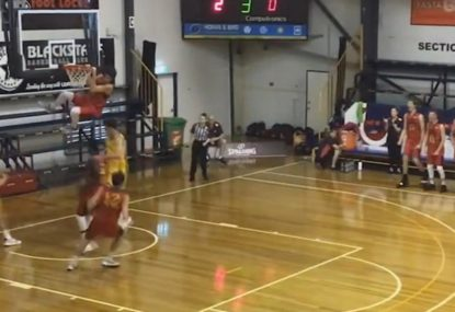 Aussie basketballer throws down humongous dunk at Under 18s National Champs
