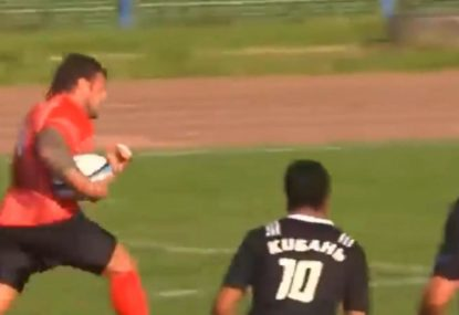 Big Boppa's lightning fast pick-and-go sets up try under the sticks